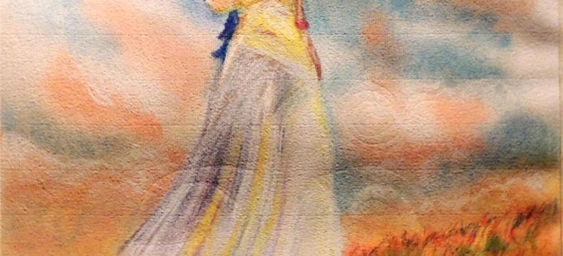 Mujer con Parasol